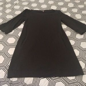 Old Navy Black Sweatshirt Dress with Pockets